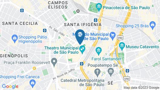 Hotel Cinelândia Map