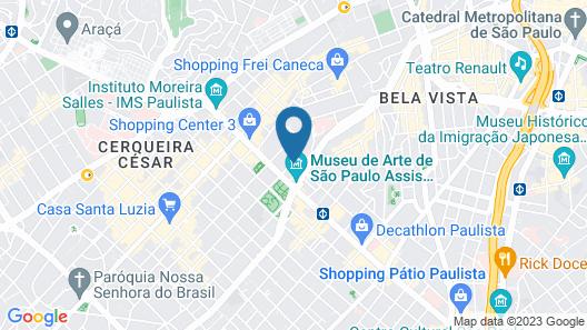 Blue Tree Premium Paulista Map