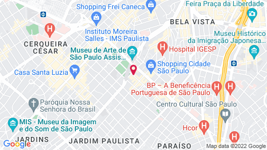 Tivoli Mofarrej São Paulo Map