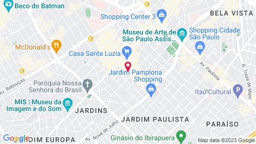 Hotel Emiliano Map