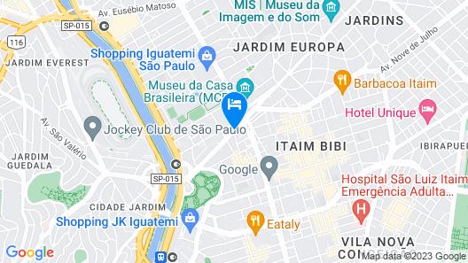 Radisson Blu São Paulo Map