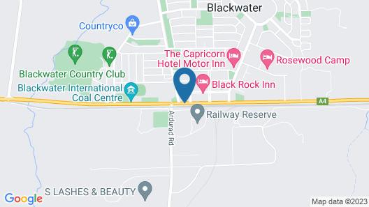 Blackwater Hotel Motel Map