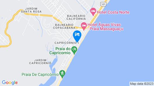 Pousada Pé na Areia Map