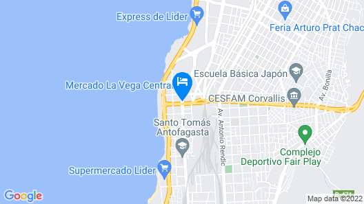 Hotel Costa Pacifico - Express Map
