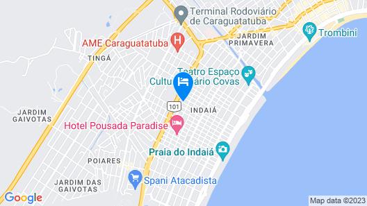 Pousada da Cris Caraguatatuba Map