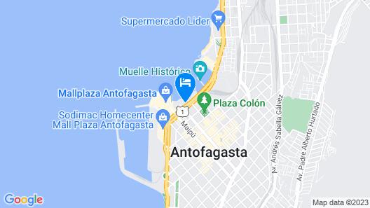 Panamericana Hotels Antofagasta Map
