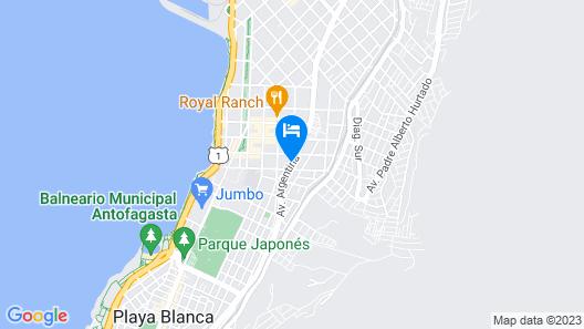 Hotel Spark Antofagasta Map