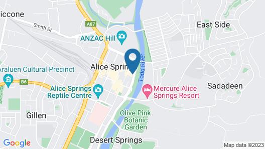Alice Springs YHA - Hostel Map