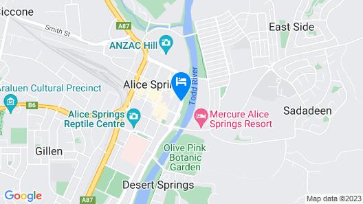 Aurora Alice Springs Map