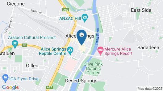 Diplomat Motel Alice Springs Map
