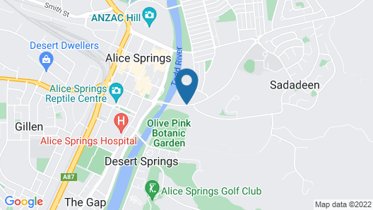 Mercure Alice Springs Resort Map
