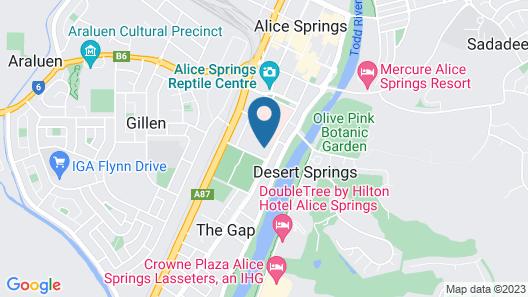 Jump Inn Alice Budget Accommodation Map