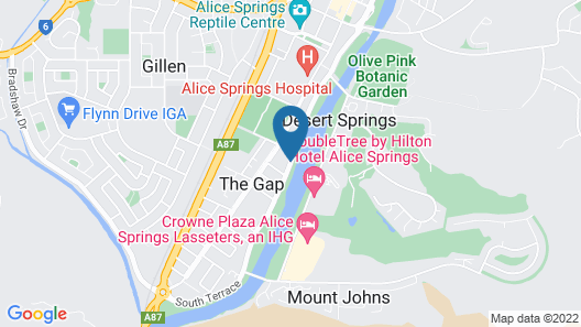 Quest Alice Springs Map