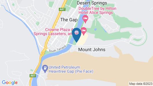 Crowne Plaza Alice Springs Lasseters Map
