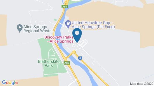 BIG4 Macdonnell Range Holiday Park Map