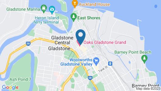 Oaks Gladstone Grand Hotel Map