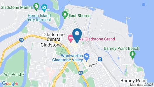 Gladstone Capricorn Apartments Map