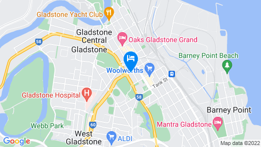 Quest Gladstone Hotel Map