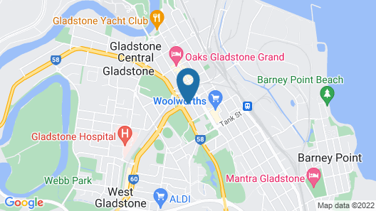 Gladstone Downtown Central Apartment Hotel Map