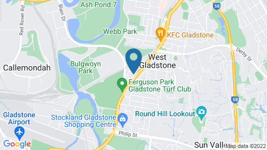 Rocky Glen Hotel Motel Gladstone Map