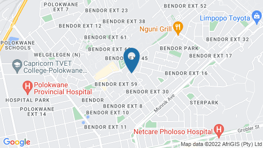 Bendor Bayete Self catering Accommodation Map