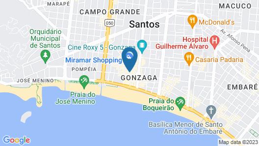 Bourbon Santos Convention Hotel Map