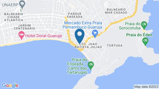 Iracemar Hotel Guaruja Map