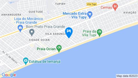 Apartamento Mobiliado na Praia Map