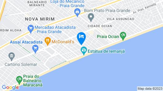 Colônia de Férias Praia Grande Map