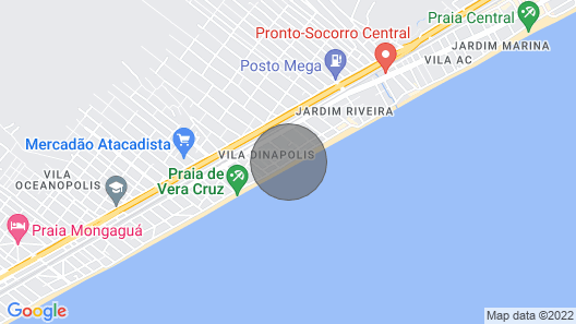 Beachfront apartment Map