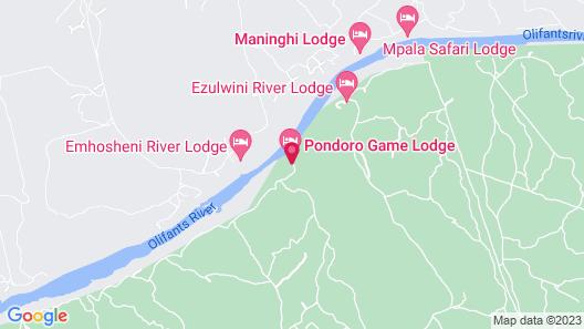 Pondoro Game Lodge - All Inclusive Map
