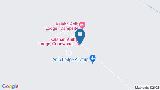 Kalahari Anib Lodge Map