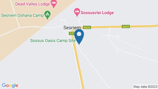 Sossus Oasis Camp Site Map
