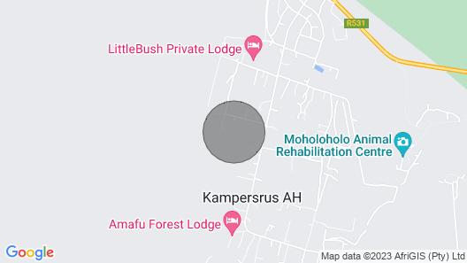 Ukuthula Cottages, Luxury bed in the Bush Map