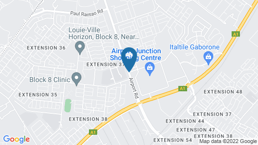 Town Lodge Gaborone Map