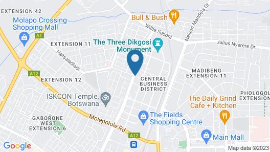 Hilton Garden Inn Gaborone Map