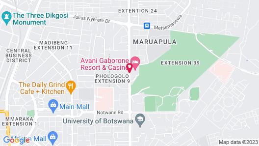 Avani Gaborone Resort & Casino Map