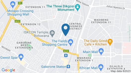 Protea Hotel by Marriott Gaborone Masa Square Map
