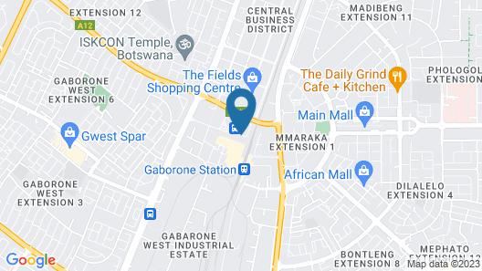 The Gaborone Hotel Map