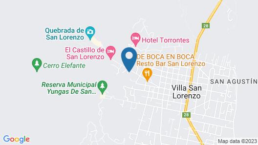 Hostal El Cerrito San Lorenzo Map