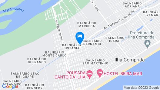 Samburá Chalets Map