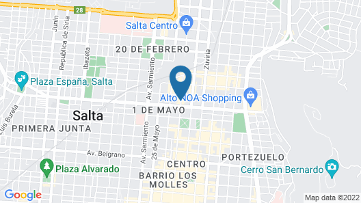 Altos De Balcarce Hotel Map