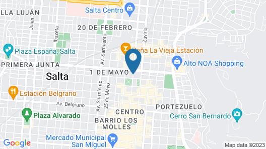 Legado Mitico Salta Boutique Hotel Map