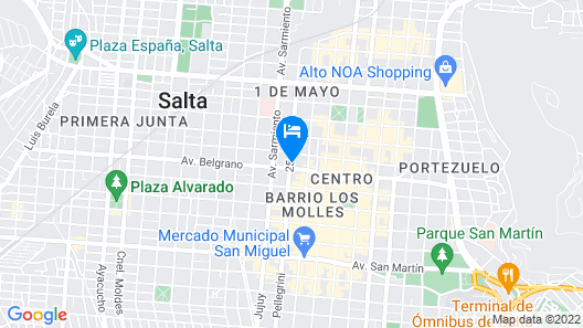 Hotel Brizo Salta Map
