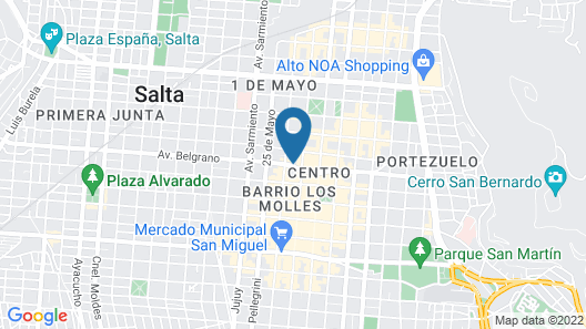 Design Suites Salta Map