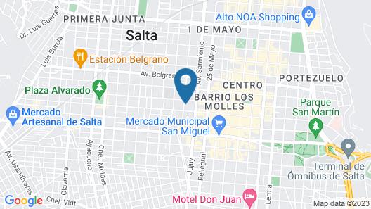Nubes Apart Hotel Map
