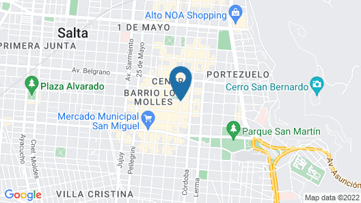 Hotel Colonial Salta Map
