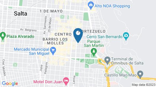 Villa Vicuña Hotel Boutique Map