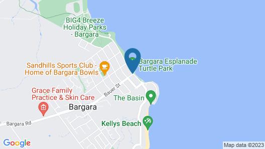 Kacys Bargara Beach Motel Map