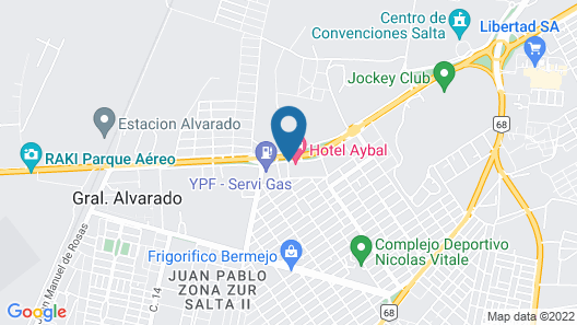 Hotel Boutique Aybal Map